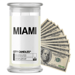 Miami | City Cash Candle®-City Cash Candles®-The Official Website of Jewelry Candles - Find Jewelry In Candles!