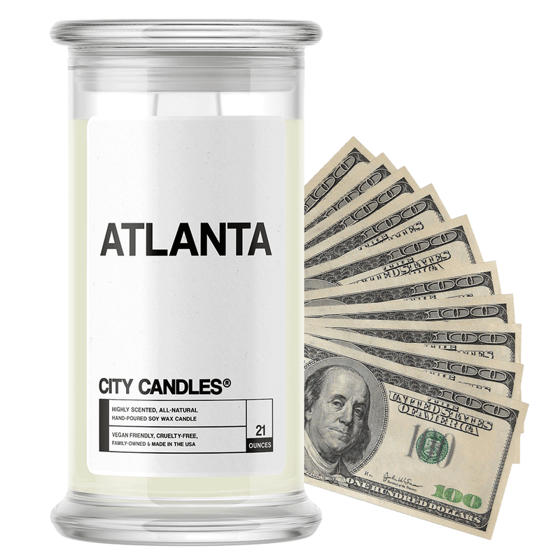 Atlanta | City Cash Candle®-City Cash Candles®-The Official Website of Jewelry Candles - Find Jewelry In Candles!