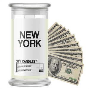 New York | City Cash Candle®-City Cash Candles®-The Official Website of Jewelry Candles - Find Jewelry In Candles!