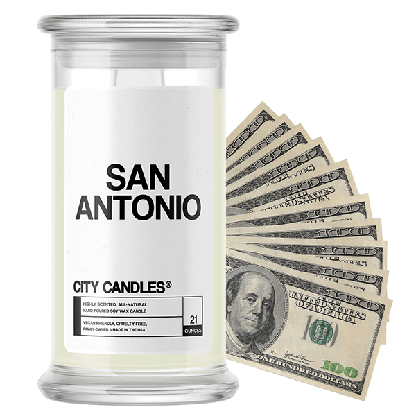 San Antonio | City Cash Candle®-City Cash Candles®-The Official Website of Jewelry Candles - Find Jewelry In Candles!