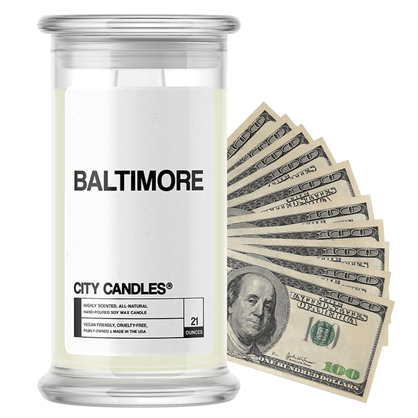 Baltimore | City Cash Candle®-City Cash Candles®-The Official Website of Jewelry Candles - Find Jewelry In Candles!
