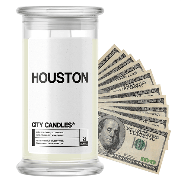 Houston | City Cash Candle®-City Cash Candles®-The Official Website of Jewelry Candles - Find Jewelry In Candles!