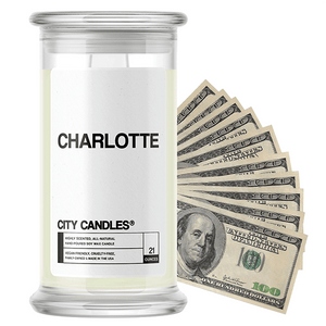 Charlotte | City Cash Candle®-City Cash Candles®-The Official Website of Jewelry Candles - Find Jewelry In Candles!
