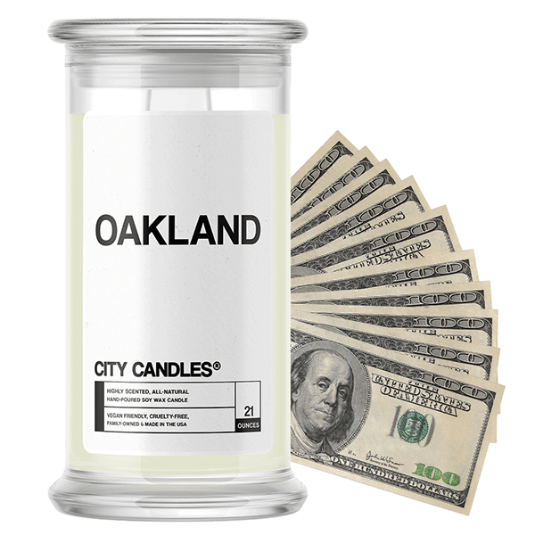 Oakland | City Cash Candle®-City Cash Candles®-The Official Website of Jewelry Candles - Find Jewelry In Candles!