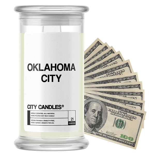Oklahoma City | City Cash Candle®-City Cash Candles®-The Official Website of Jewelry Candles - Find Jewelry In Candles!