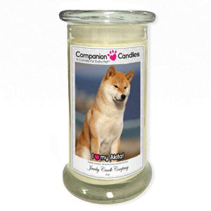 I Love My Akita! - Pet Photo Companion Candles - Pet Lover Gifts-Companion