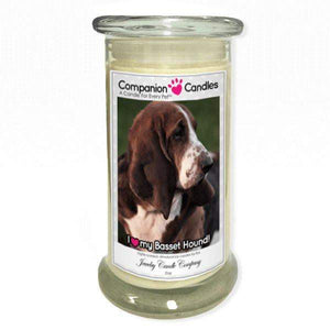 I Love My Basset Hound! - Pet Photo Companion Candles - Pet Lover Gifts-Companion Candles-The Official Website of Jewelry Candles - Find Jewelry In Candles!