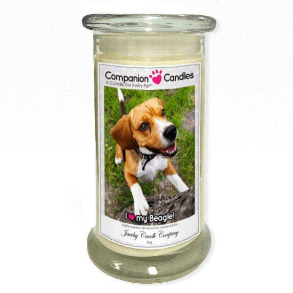 I Love My Beagle! - Pet Photo Companion Candles - Pet Lover Gifts-Companion Candles-The Official Website of Jewelry Candles - Find Jewelry In Candles!