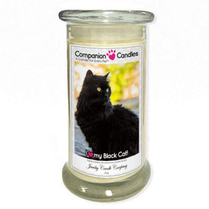 I Love My Black Cat! - Pet Photo Companion Candles - Pet Lover Gifts-Companion Candles-The Official Website of Jewelry Candles - Find Jewelry In Candles!