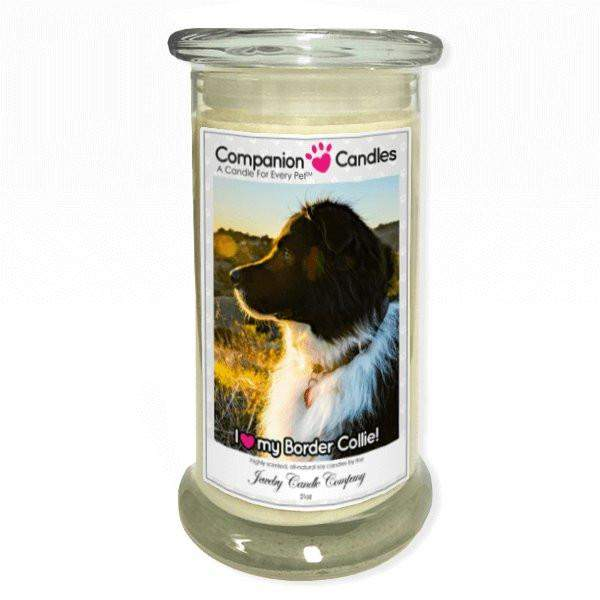 I Love My Border Collie! - Pet Photo Companion Candles - Pet Lover Gifts-Companion Candles-The Official Website of Jewelry Candles - Find Jewelry In Candles!