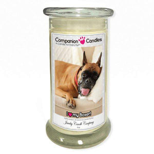 I Love My Boxer! - Pet Photo Companion Candles - Pet Lover Gifts-Companion Candles-The Official Website of Jewelry Candles - Find Jewelry In Candles!