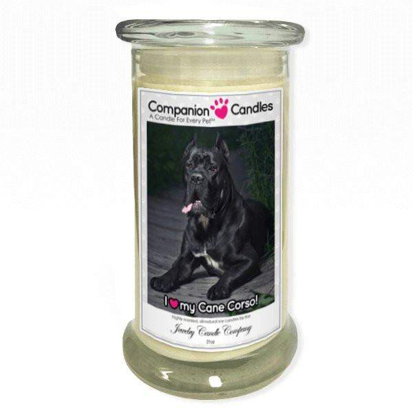 I Love My Cane Corso! - Pet Photo Companion Candles - Pet Lover Gifts-Companion Candles-The Official Website of Jewelry Candles - Find Jewelry In Candles!