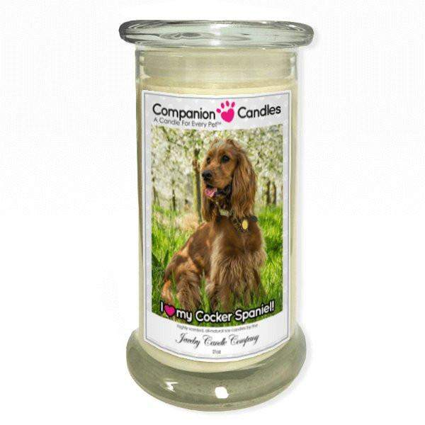 I Love My Cocker Spaniel! - Pet Photo Companion Candles - Pet Lover Gifts-Companion Candles-The Official Website of Jewelry Candles - Find Jewelry In Candles!