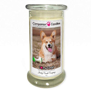 I Love My Corgi! - Pet Photo Companion Candles - Pet Lover Gifts-Companion Candles-The Official Website of Jewelry Candles - Find Jewelry In Candles!