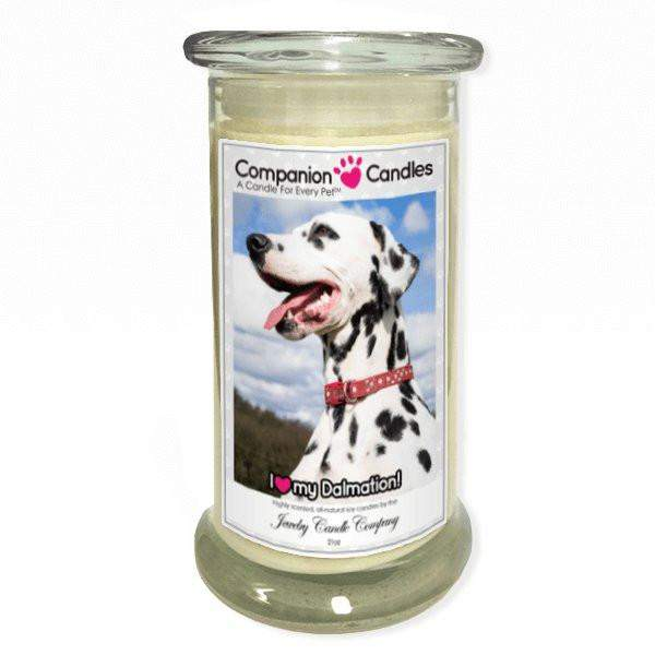 I Love My Dalmation! - Pet Photo Companion Candles - Pet Lover Gifts-Companion Candles-The Official Website of Jewelry Candles - Find Jewelry In Candles!