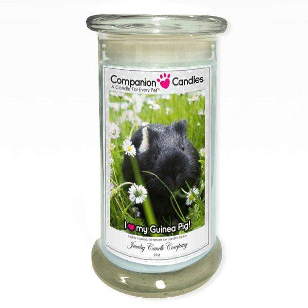 I Love My Guinea Pig! - Pet Photo Companion Candles - Pet Lover Gifts-Companion Candles-The Official Website of Jewelry Candles - Find Jewelry In Candles!