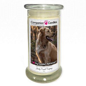 I Love My Golden Retriever! - Pet Photo Companion Candles - Pet Lover Gifts-Companion Candles-The Official Website of Jewelry Candles - Find Jewelry In Candles!