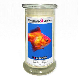 I Love My Goldfish! - Pet Photo Companion Candles - Pet Lover Gifts-Companion Candles-The Official Website of Jewelry Candles - Find Jewelry In Candles!