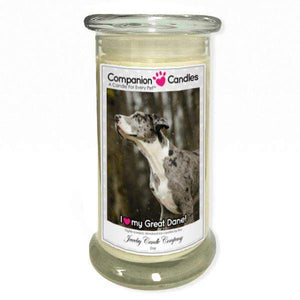 I Love My Great Dane! - Pet Photo Companion Candles - Pet Lover Gifts-Companion Candles-The Official Website of Jewelry Candles - Find Jewelry In Candles!
