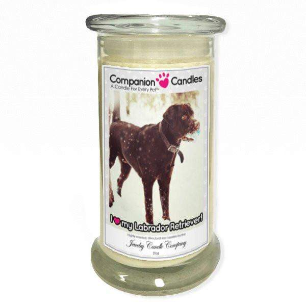 I Love My Labrador Retriever! - Pet Photo Companion Candles - Pet Lover Gifts-Companion Candles-The Official Website of Jewelry Candles - Find Jewelry In Candles!