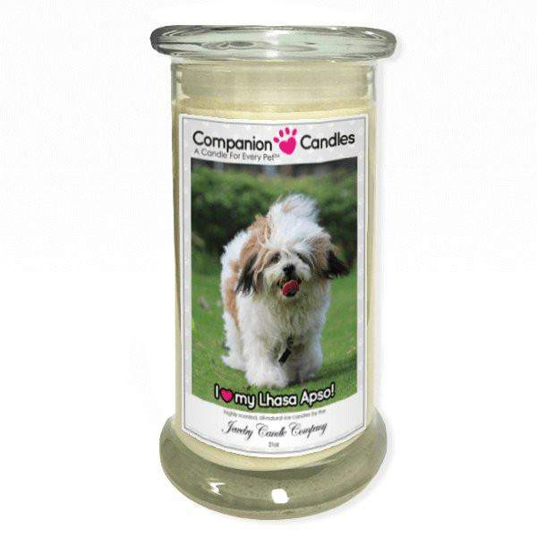 I Love My Lhasa Apso! - Pet Photo Companion Candles - Pet Lover Gifts-Companion Candles-The Official Website of Jewelry Candles - Find Jewelry In Candles!