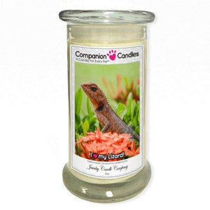 I Love My Lizard! - Pet Photo Companion Candles - Pet Lover Gifts-Companion Candles-The Official Website of Jewelry Candles - Find Jewelry In Candles!