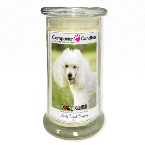 I Love My Poodle! - Pet Photo Companion Candles - Pet Lover Gifts-Companion Candles-The Official Website of Jewelry Candles - Find Jewelry In Candles!