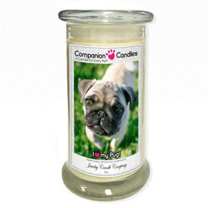 I Love My Pug! - Pet Photo Companion Candles - Pet Lover Gifts-Companion Candles-The Official Website of Jewelry Candles - Find Jewelry In Candles!