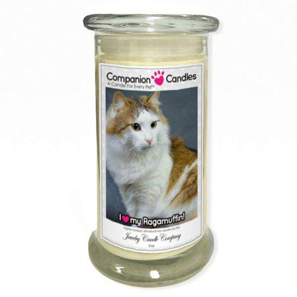 I Love My Ragamuffin! - Pet Photo Companion Candles - Pet Lover Gifts-Companion Candles-The Official Website of Jewelry Candles - Find Jewelry In Candles!