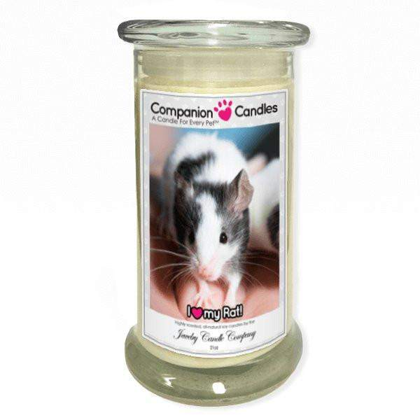 I Love My Rat! - Pet Photo Companion Candles - Pet Lover Gifts-Companion Candles-The Official Website of Jewelry Candles - Find Jewelry In Candles!