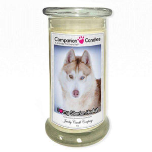 I Love My Siberian Husky! - Pet Photo Companion Candles - Pet Lover Gifts-Companion Candles-The Official Website of Jewelry Candles - Find Jewelry In Candles!
