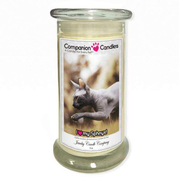 I Love My Sphynx! - Pet Photo Companion Candles - Pet Lover Gifts-Companion Candles-The Official Website of Jewelry Candles - Find Jewelry In Candles!