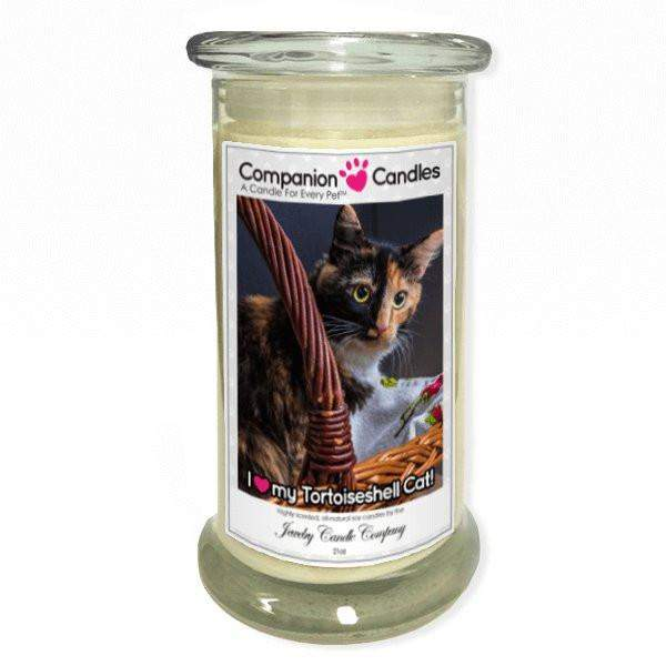 I Love My Tortoiseshell Cat! - Pet Photo Companion Candles - Pet Lover Gifts-Companion Candles-The Official Website of Jewelry Candles - Find Jewelry In Candles!