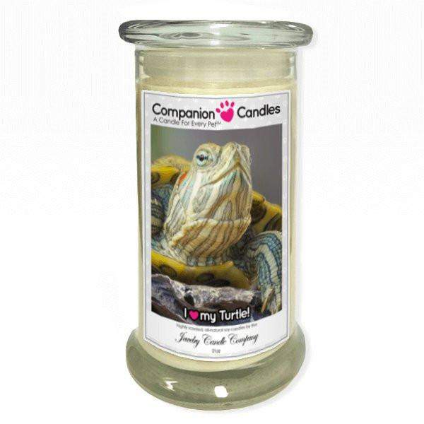 I Love My Turtle! - Pet Photo Companion Candles - Pet Lover Gifts-Companion Candles-The Official Website of Jewelry Candles - Find Jewelry In Candles!