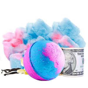 Cotton Candy | Single Cash Bath Bomb®-Cash Bath Bombs-The Official Website of Jewelry Candles - Find Jewelry In Candles!