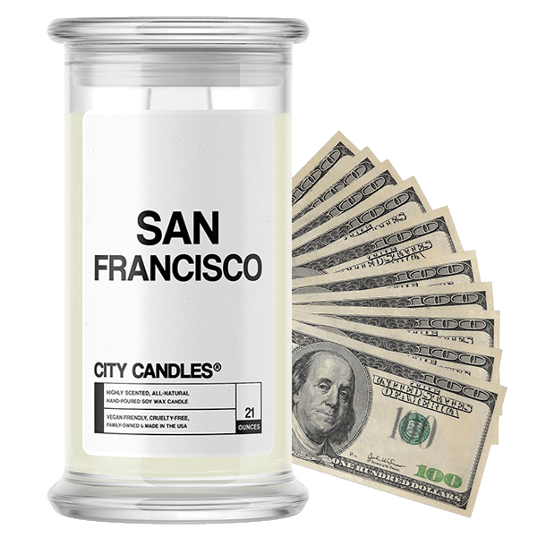San Francisco | City Cash Candle®-City Cash Candles®-The Official Website of Jewelry Candles - Find Jewelry In Candles!