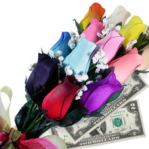 Rainbow Bouquet | Cash Roses®-Cash Roses®-The Official Website of Jewelry Candles - Find Jewelry In Candles!