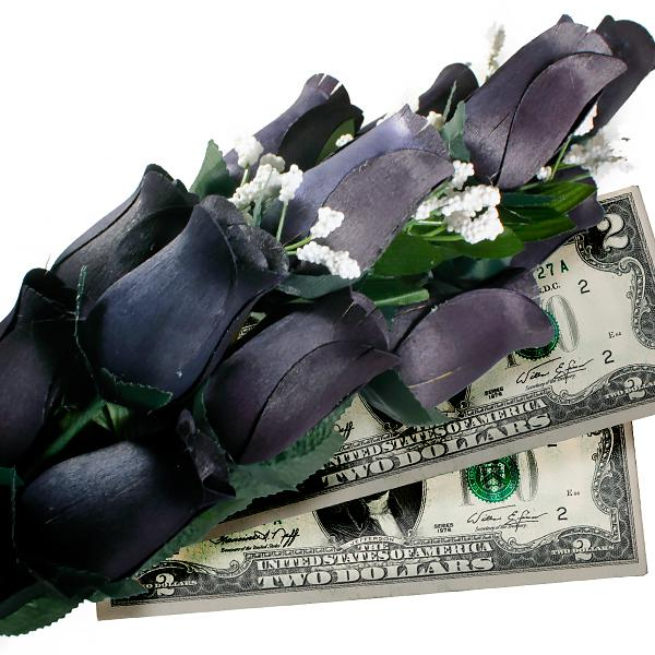 Black Bouquet | Cash Roses®-Cash Roses®-The Official Website of Jewelry Candles - Find Jewelry In Candles!