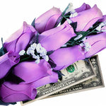 Lavender Bouquet | Cash Roses®-Cash Roses®-The Official Website of Jewelry Candles - Find Jewelry In Candles!