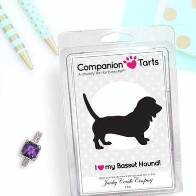 I Love My Basset Hound! - Companion Tarts-Companion Tarts-The Official Website of Jewelry Candles - Find Jewelry In Candles!