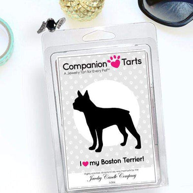 I Love My Boston Terrier! - Companion Tarts-Companion Tarts-The Official Website of Jewelry Candles - Find Jewelry In Candles!