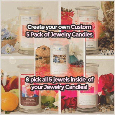 Create Your Own Custom 5 Pack Of Jewelry Candles-Create Your Own 5 Pack!-The Official Website of Jewelry Candles - Find Jewelry In Candles!