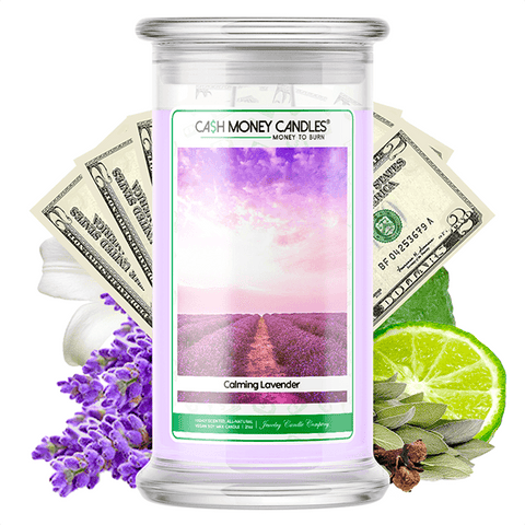 Calming Lavender Cash Money Candle