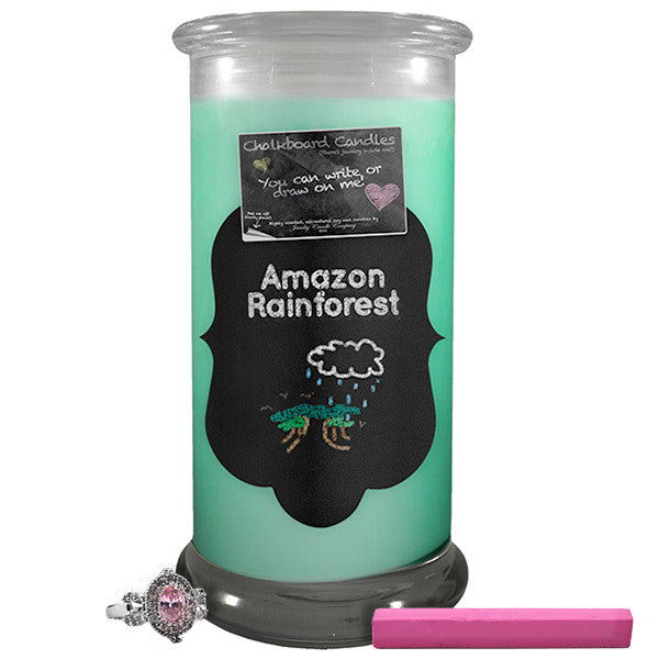 Amazon Rainforest Chalkboard Candle-Chalkboard Jewelry Candles-The Official Website of Jewelry Candles - Find Jewelry In Candles!