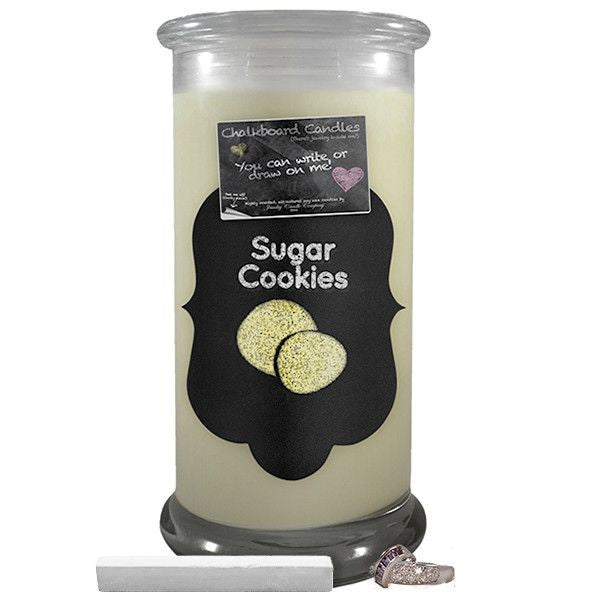 Sugar Cookies | Chalkboard Candle-Chalkboard Jewelry Candles-The Official Website of Jewelry Candles - Find Jewelry In Candles!