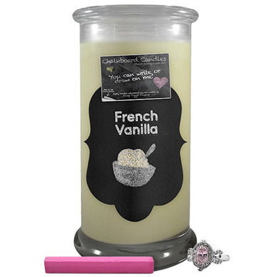 French Vanilla | Chalkboard Candle-Chalkboard Jewelry Candles-The Official Website of Jewelry Candles - Find Jewelry In Candles!