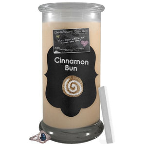 Cinnamon Bun | Chalkboard Candle-Chalkboard Jewelry Candles-The Official Website of Jewelry Candles - Find Jewelry In Candles!