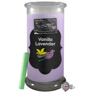 Vanilla Lavender | Chalkboard Candle-Chalkboard Jewelry Candles-The Official Website of Jewelry Candles - Find Jewelry In Candles!
