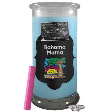 Bahama Mama Chalkboard Candle-Chalkboard Jewelry Candles-The Official Website of Jewelry Candles - Find Jewelry In Candles!