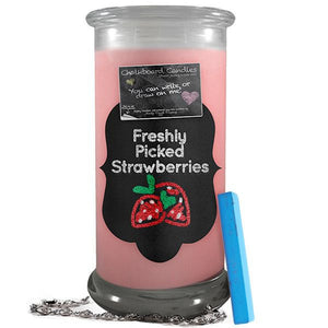 Freshly Picked Strawberries | Chalkboard Candle-Chalkboard Jewelry Candles-The Official Website of Jewelry Candles - Find Jewelry In Candles!